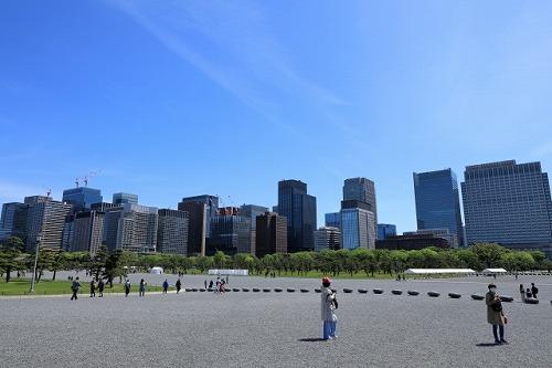 皇居前広場 嵐